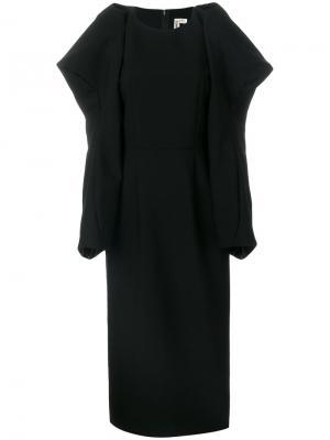 Платье с драпировкой Comme Des Garçons. Цвет: черный