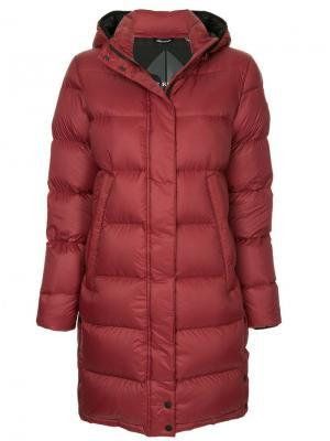 Padded hooded coat Moose Knuckles. Цвет: красный