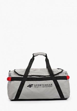 Сумка спортивная 4F. Цвет: серый