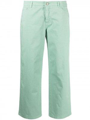 Прямые брюки Malo. Цвет: зеленый