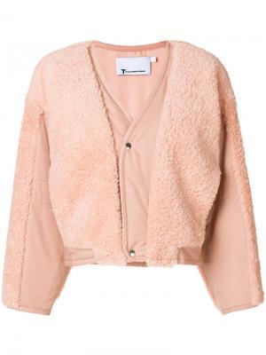 Утепленная куртка T By Alexander Wang. Цвет: розовый