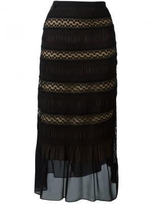 Кружевная юбка миди Nº21. Цвет: чёрный
