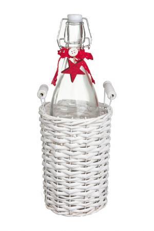 Плетенная корзина с бутылкой DUE ESSE CHRISTMAS. Цвет: красный