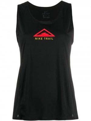 Топ  Trail с принтом Nike. Цвет: черный
