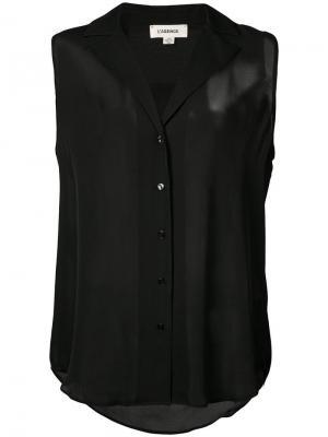 Рубашка без рукавов L'agence. Цвет: черный