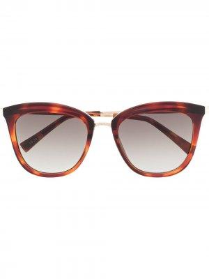 Солнцезащитные очки Caliente в оправе кошачий глаз Le Specs. Цвет: золотистый