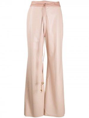 Расклешенные брюки с завышенной талией Nanushka. Цвет: розовый