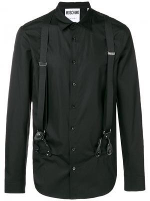 Рубашка с подтяжками Moschino. Цвет: черный