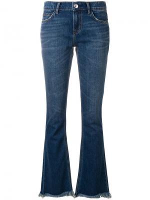 Расклешенные к низу джинсы с бахромой Current/Elliott. Цвет: синий