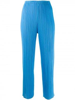 Укороченные плиссированные брюки Issey Miyake Pre-Owned. Цвет: синий