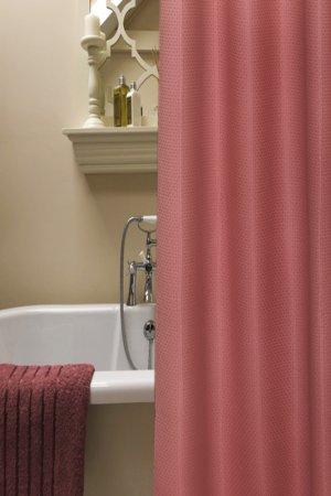 Занавеска для ванной NIKLEN. Цвет: бордовый