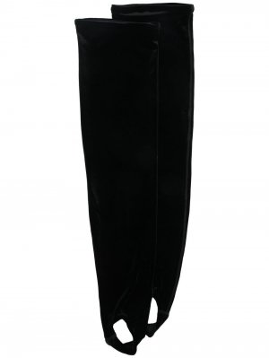 Бархатные носки для аэробики Simone Wild. Цвет: черный
