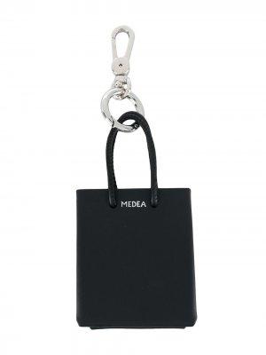 Брелок в виде сумки-тоут Medea. Цвет: черный