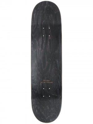 Скейтборд с гладкой поверхностью PACCBET. Цвет: черный
