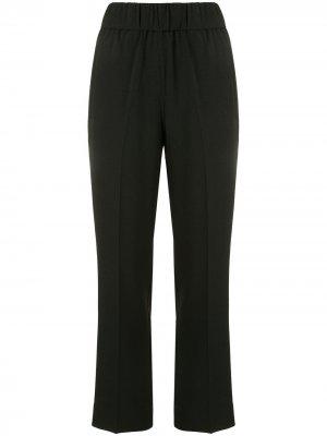 Укороченные брюки с завышенной талией GANNI. Цвет: черный