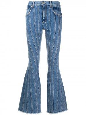 Расклешенные джинсы средней посадки Mugler. Цвет: синий