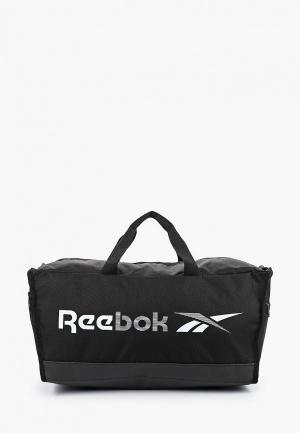 Сумка спортивная Reebok. Цвет: черный