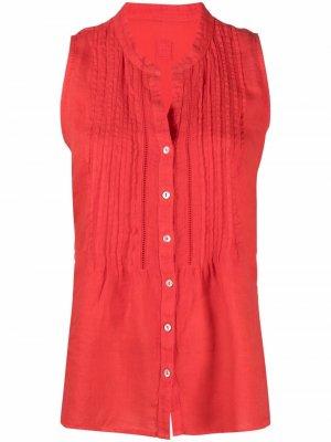 Рубашка без рукавов 120% Lino. Цвет: красный