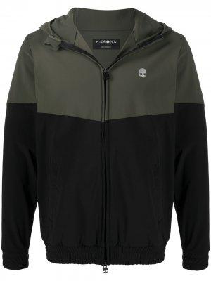 Двухцветная спортивная куртка с капюшоном Hydrogen. Цвет: черный