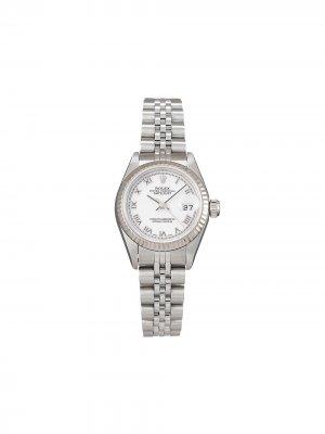 Наручные часы Lady-Datejust pre-owned 26 мм 2003-го года Rolex. Цвет: белый