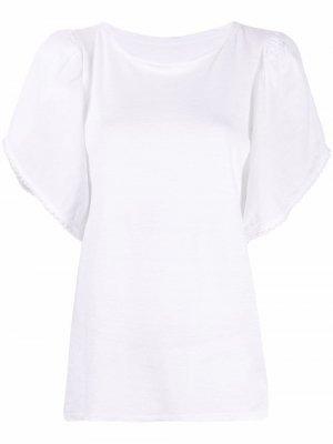 Блузка с пышными рукавами 120% Lino. Цвет: белый