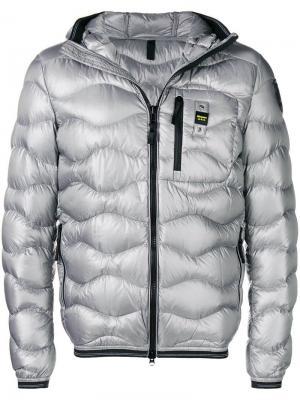 Wave quilted jacket Blauer. Цвет: серый