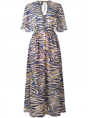 Платье-кейп Into  Wilds Suboo. Цвет: синий