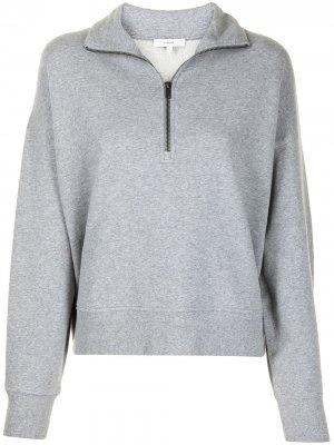 Пуловер на молнии Vince. Цвет: серый
