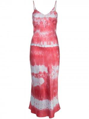 Платье-комбинация с узором Dannijo. Цвет: красный