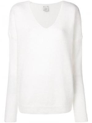 V-neck jumper Alysi. Цвет: белый