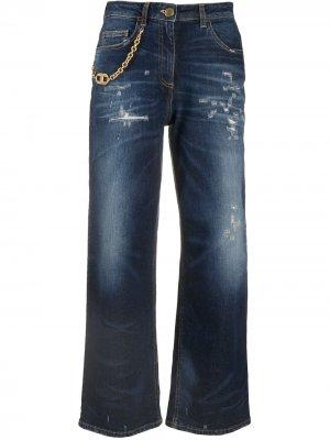 Укороченные джинсы широкого кроя Elisabetta Franchi. Цвет: синий