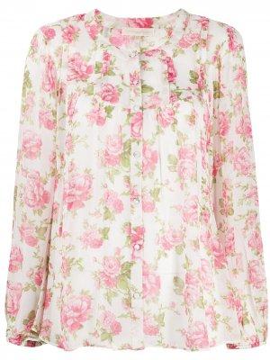 Блузка Goodwin с цветочным узором LoveShackFancy. Цвет: розовый