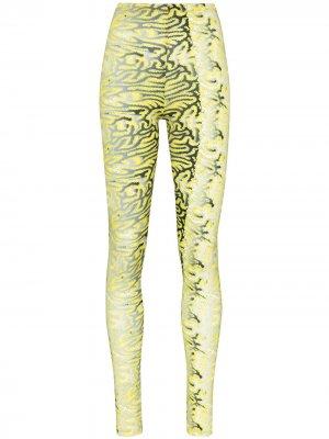 Легинсы Body Shop с графичным принтом Maisie Wilen. Цвет: желтый