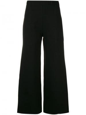 Укороченные широкие брюки Pierantoniogaspari. Цвет: черный