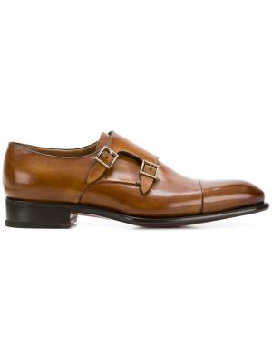Ботинки-монки Santoni. Цвет: коричневый