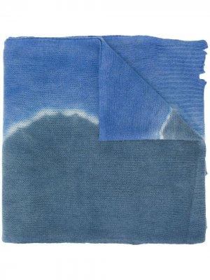 Объемная шаль с принтом тай-дай Raquel Allegra. Цвет: синий