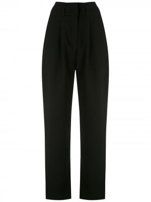 Зауженные брюки с разрезами Eva. Цвет: черный