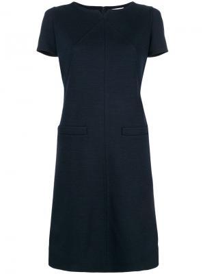 Короткое расклешенное платье Courrèges. Цвет: синий