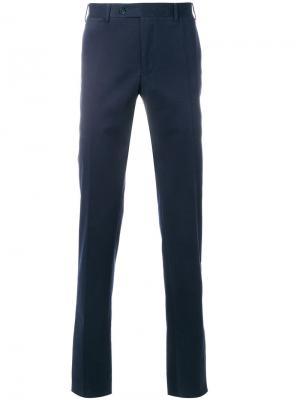 Классические брюки-чинос Canali. Цвет: синий