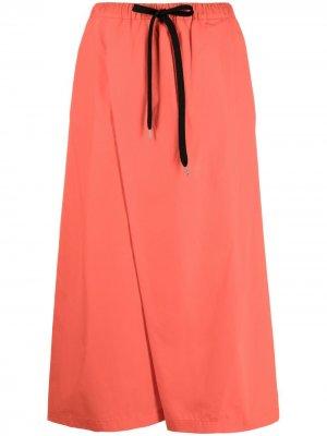 Укороченные брюки широкого кроя Marni. Цвет: оранжевый
