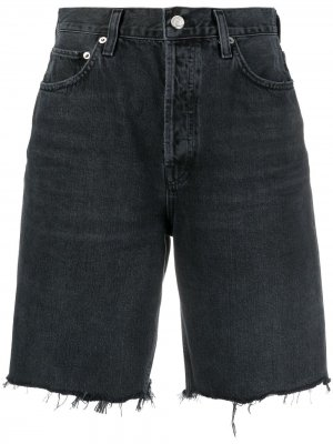 Джинсовые шорты AGOLDE. Цвет: черный