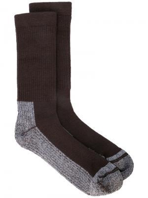 Носки Hiking Rick Owens. Цвет: коричневый