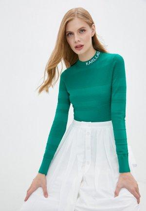 Водолазка Karl Lagerfeld. Цвет: зеленый