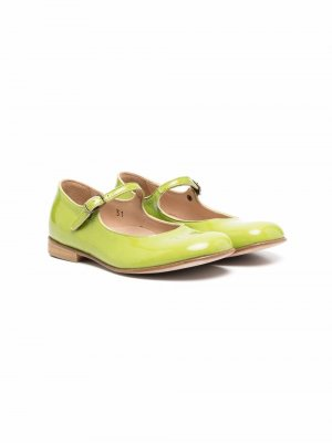 Балетки с закругленным носком Pèpè. Цвет: зеленый