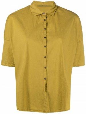 Рубашка с закругленным подолом Transit. Цвет: желтый