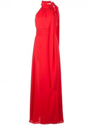 Вечернее платье Morgan с вырезом халтер Sachin & Babi. Цвет: красный
