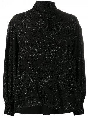 Блузка Gretina в мелкую точку IRO. Цвет: черный