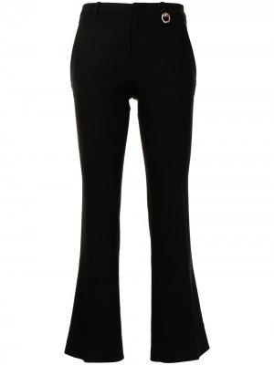 Укороченные расклешенные брюки Gucci Pre-Owned. Цвет: черный