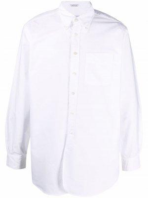 Рубашка с длинными рукавами и нагрудным карманом Engineered Garments. Цвет: белый