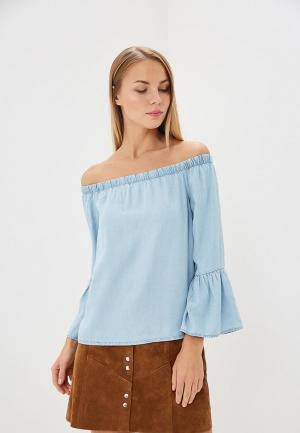 Блуза Only. Цвет: голубой